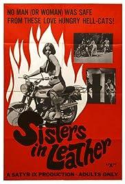 Bad lesbian biker girls in black leather