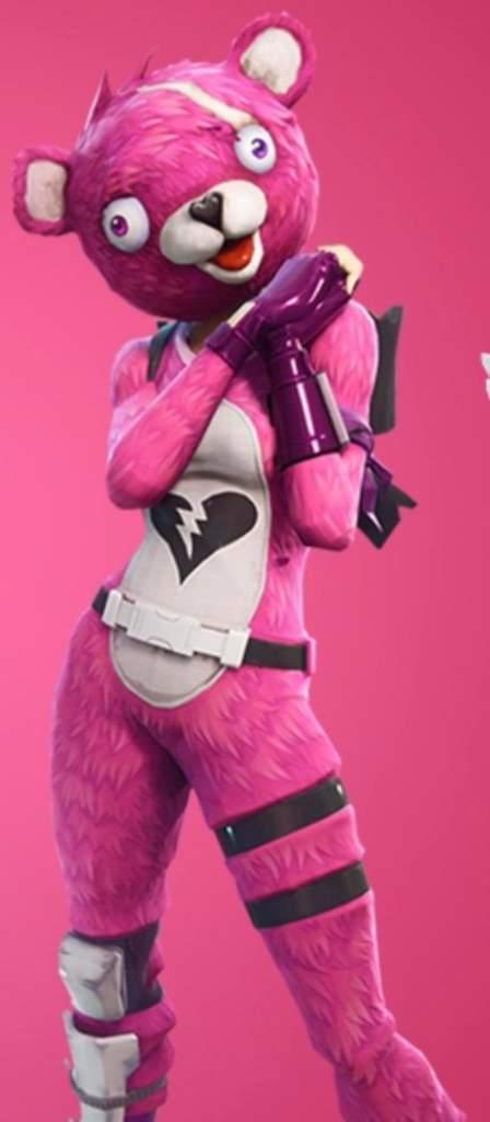 Fortnite pink bear costume hey suisui