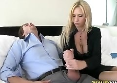 Cute girls handjobs and blowjobs busty blonde giving