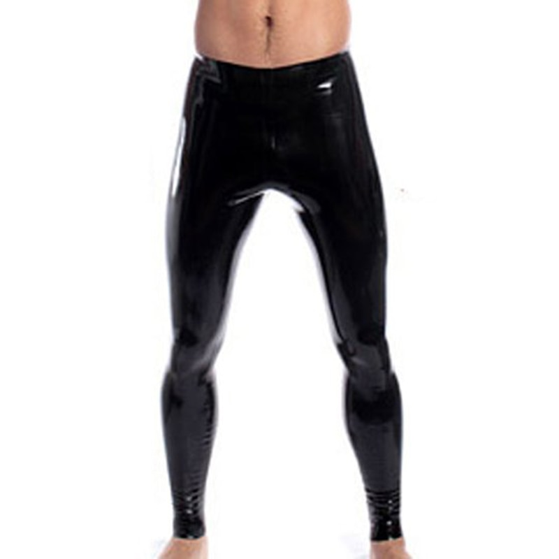 Babe in shiny black leggings pisses in public pissing