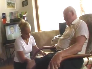Grandma and grandpa fucking in the kitchen justporno