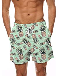 Hot sell high quality custom coconut tree boys swim trunks