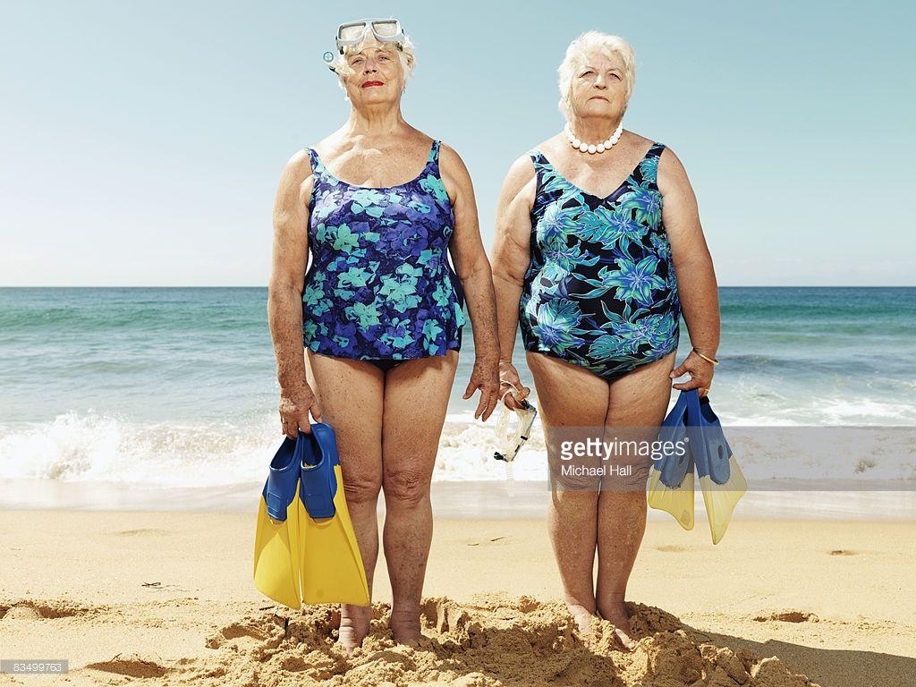 Mature women at the beach