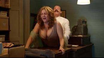 Sexy milf is having weird sex with a boy vintage movie