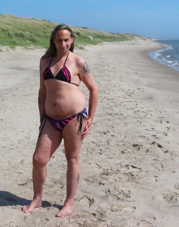 Bikini boy wearing