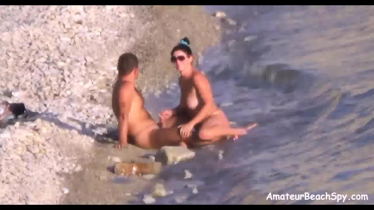 Beach hand job