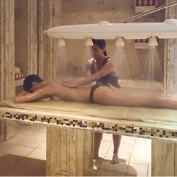 Erotic massage table shower