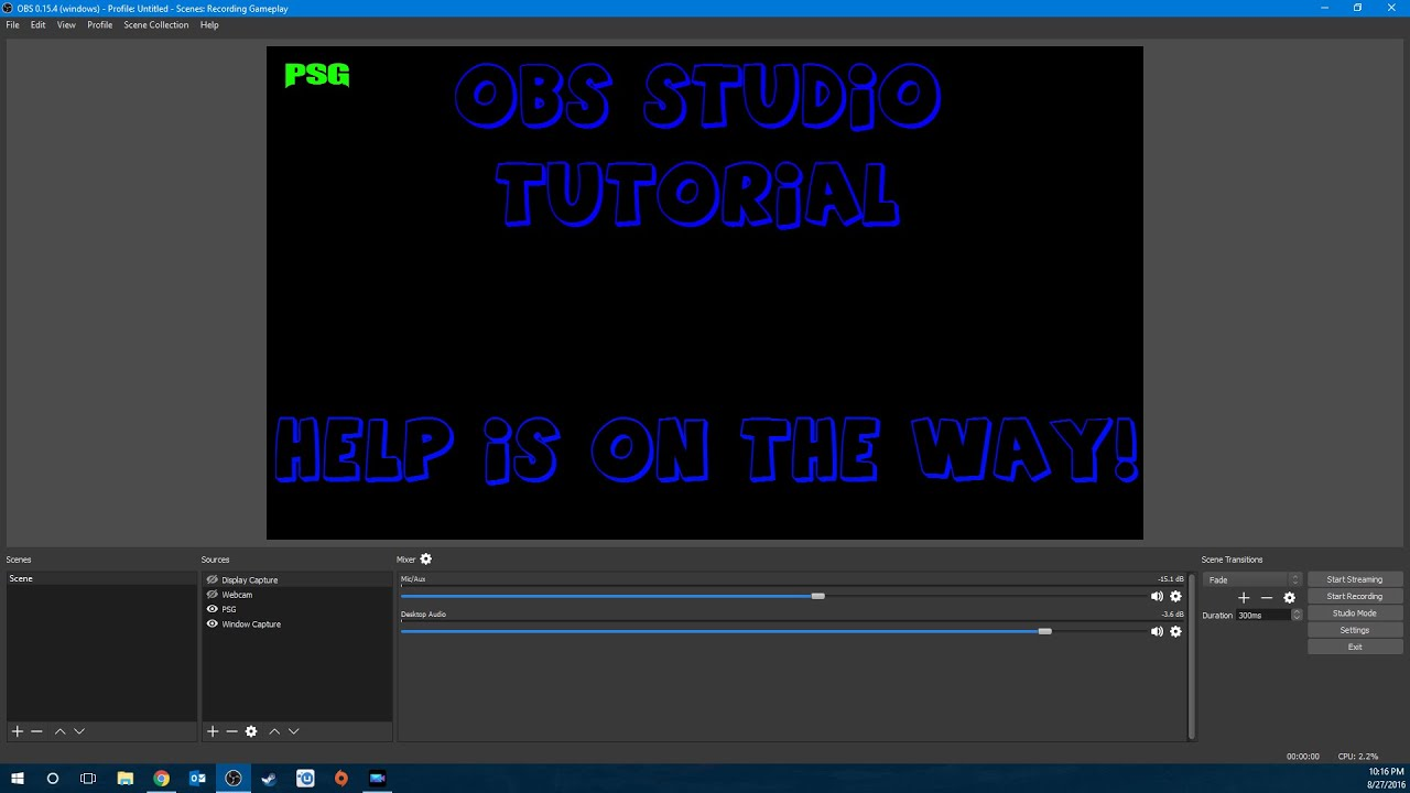 Obs studio setup tutorial