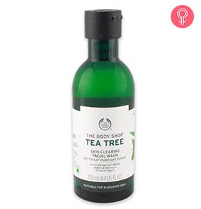 Tea tree oil facial cleanser