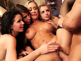 Dominant milf gets a creampie after anal sex bangbros